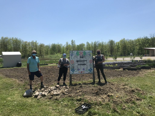 Chippewas of the Thames First Nation Community Composting Support Project sign