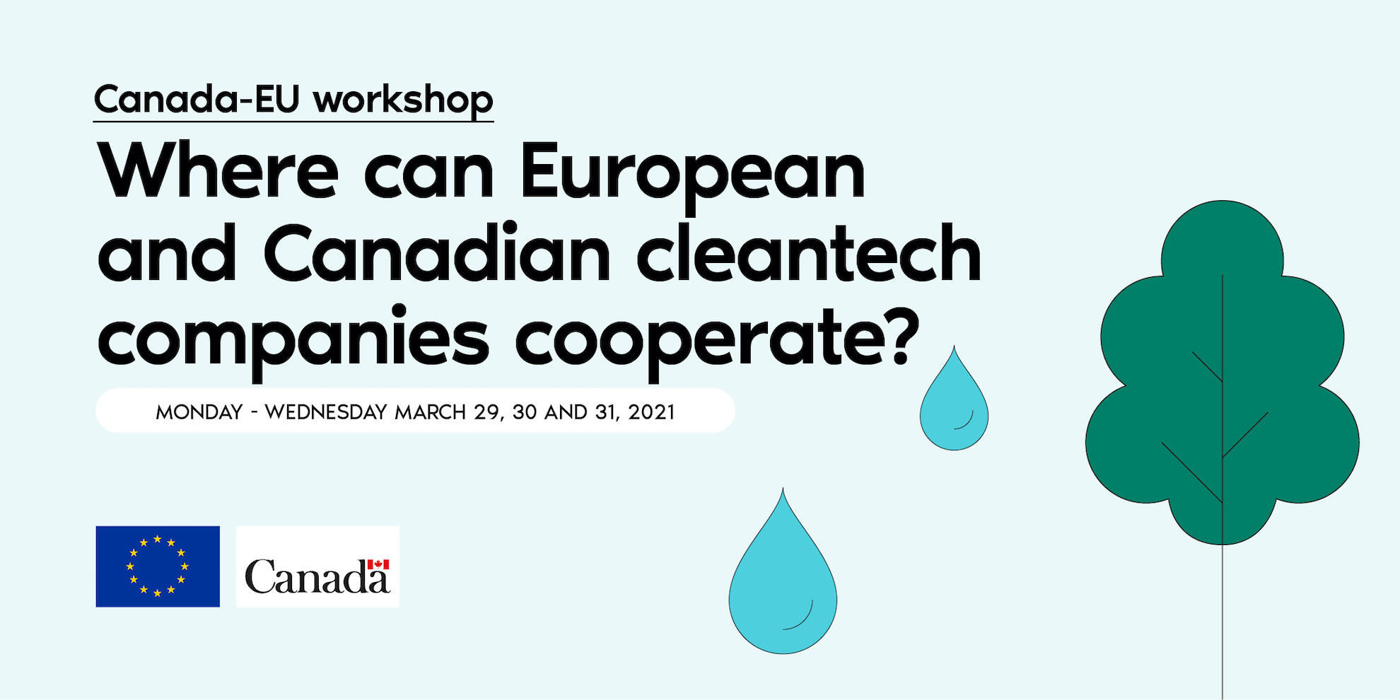 Where can European and Canadian clean tech companies cooperate workshop.